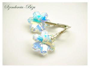 Kolczyki Swarovski Snowflake Crystal AB - 2844141251
