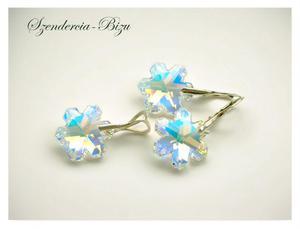 Komplet Swarovski Snowflake Crystal AB - 2846536789