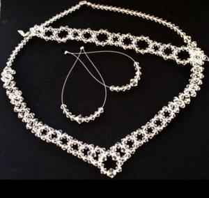 Nowy ślubny komplet Swarovski crystal - 2827495485