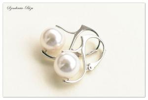 Kolczyki Swarovski Pearl Crystal White - 2835871625
