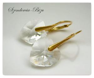 Kolczyki Swarovski Heart 14mm Crystal - 2836506120