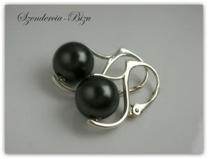Kolczyki Swarovski Elements Crystal Black Pearl - 2827502766