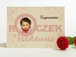 Zaproszenia na urodziny roczek dziewczynki - 2863484157