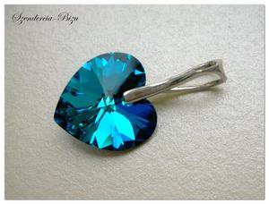 Zawieszka Swarovski Elements Heart Bermuda Blue - 2846536810