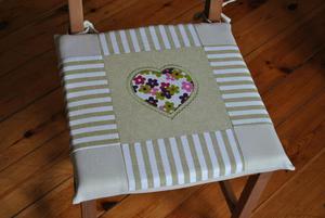 Poduszki na krzesła, siedziska - oliwkowe -4 szt.