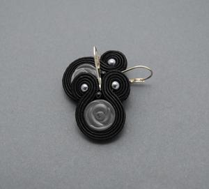 czarne kolczyki sutasz z hematytami - 2827530424