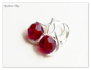 Kolczyki Swarovski Round Beads Siam 10mm - 2836763993