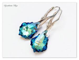 Kolczyki Swarovski Baroque Bermuda Blue - 2837885422