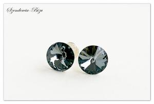 Wkrętki Swarovski Rivoli 8mm Silver Night - 2844141341