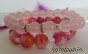 Kwarc i jadeit - kamienie naturalne - 2847365629