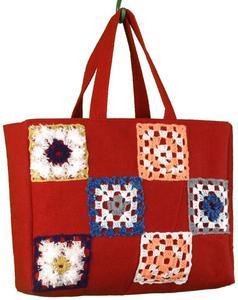 fc405887f7d80 SWS TOREBKI Duża torba czerwona patchwork, Sewn with Soul