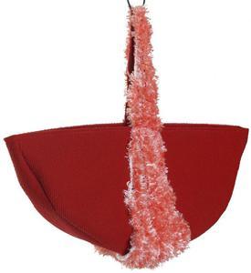 SwS TOREBKI Czerwona torebka półkole - 2858150261