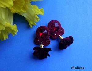 Wiśnia z kwiatowym Chwostem kolczyki sutasz - 2865354149