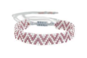 Bransoletka koralikowa wzorek beading pastel - 2861153485
