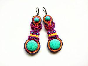 Kolczyki sutaszowe Colorful - 2861145270