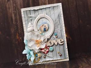 Love - w stylu vintage marine - 2861148077