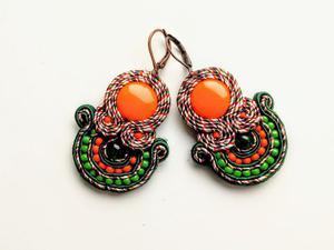 Kolczyki sutaszowe Orange Garden - 2861145299