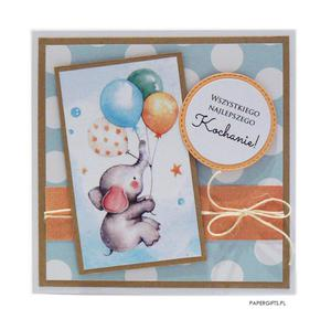 Kartka na urodziny dziecka balon i s - 2861162281