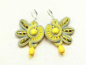Kolczyki sutasz Lemon Dragonfly - 2861145352
