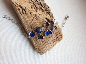 """Bransoletka """"Kobaltowy niebieski"""" z regulacj - 2861146703"""