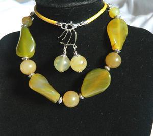 Labradoryt i agat, elegancki zestaw biżuterii - 2905425008