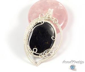 Purpuryt Srebrny wisior z purpurytem owal - 2862758837
