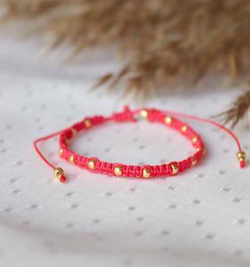 Czerwona bransoletka Relva ze z - 2861150339