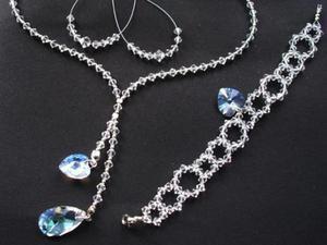 Bajeczny komplet ślubny Swarovski crystal