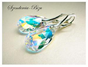 Kolczyki Swarovski Migdał 22mm Crystal AB - 2846536763