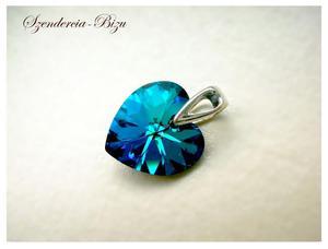 Zawieszka Swarovski Heart Bermuda Blue - 2846536768