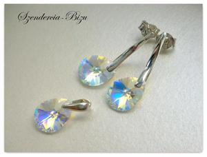 Komplet Swarovski Elements Mini Pear Crystal AB - 2846536772