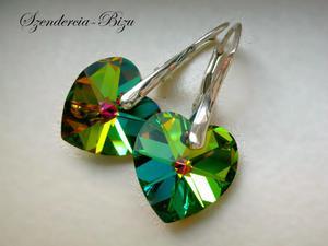 Kolczyki Swarovski Elements Heart Vitrail Medium - 2827482722