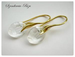 Kolczyki Swarovski Elements Pure Leaf 14mm Crystal - 2827482750