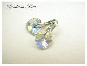 Kolczyki Swarovski Heart 14mm Crystal AB - 2846536779