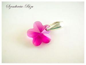 Zawieszka Swarovski Flower Fuchsia 12mm - 2837883280