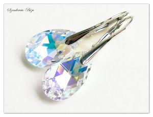 Kolczyki Swarovski Pear Shaped Crystal AB - 2836506114