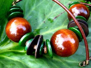 Kokos i drewno w kolorach ziemi - 2827491812