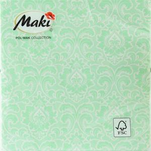 Serwetki zielono białe wzorzyste Serwetki zielono białe wzorzyste - 2853841085