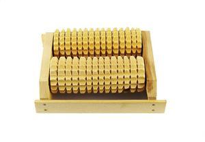 Masażer do stóp drewniany 2 rolki Masażer do stóp pojedynczy 2 rolki - 2882373428