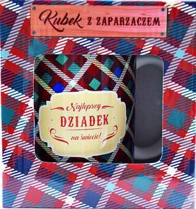Kubek z zaparzaczem dla Dziadka Kubek z zaparzaczem Najlepszy dziadek na świecie - 2864231901