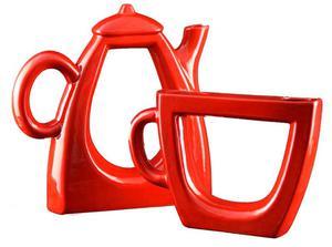 Ceramiczna dekoracja do kuchni imbryk i fili - 2859793747