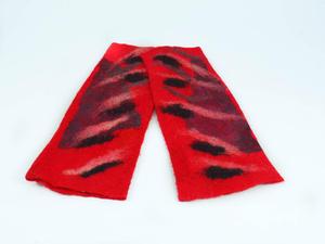 Ultra modne mitenki filcowe czerwone - 2858695571