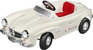 Samochód dziecięcy na pedały Mercedes-Benz 300 SL ivory - 2824155893