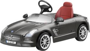 Samochód dziecięcy z napędem elektrycznym Mercedes-Benz SLS AMG Monza grey magno - 2824155898