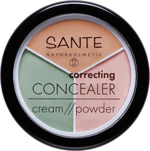 sante - Korektor w kompakcie trzy kolory - 2850292209
