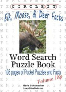 Circle It, Elk, Moose, And Deer Facts, Pocket Size, Word Search, Puzzle Book - 2852927872