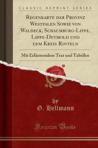 Regenkarte Der Provinz Westfalen Sowie Von Waldeck, Schaumburg-lippe, Lippe-detmold Und Dem Kreis Rinteln - 2855757125