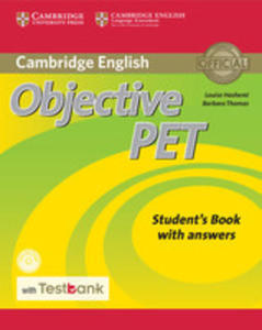 Objective Pet Student's Book With Answers With Cd-rom With Testbank - 2846053461