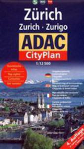 Zurich. Adac Cityplan 1:12 500 - 2839231936
