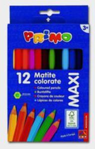 Kredki Drewniane Sześciokątne Primo Maxi 12 Kolorów